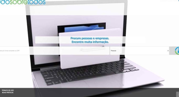 Imagem: Site Tudo Sobre Todos permite que usuários façam buscas de dados de pessoas e também de empresas (Reprodução)