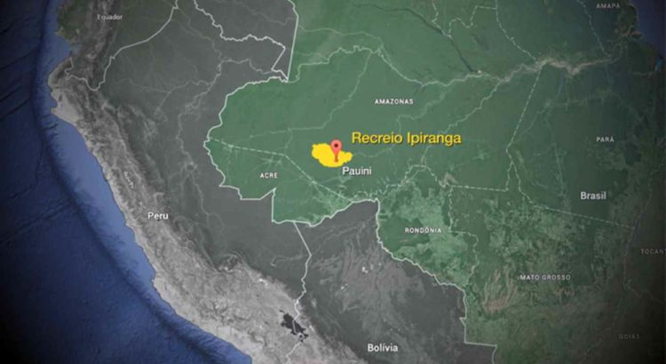 O imóvel abrange a terra indígena Inauini/Teuini e outra parte consiste em terras do Estado. Arte: Alex Próspero/AscomAGU Imagem:maps.google.com.br