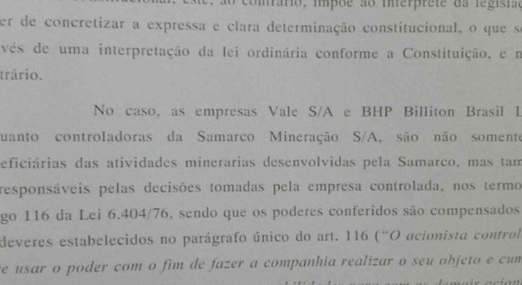 barragens decisao samarco vale bhp